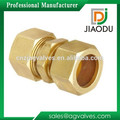Good quality and low price forged yellow brass color metric compression tube fittings for water