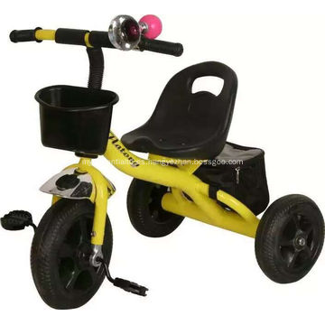 Nuevo marco de plástico y acero el triciclo del bebé