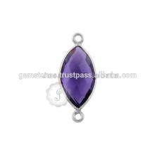 Venda Por Atacado 925 Sterling Silver Gemstone Bezel Connector, melhor qualidade Gemstone Jewelry Connector