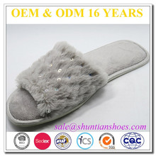 Open Toed Summer Funky Fuzzy Slippers Lady