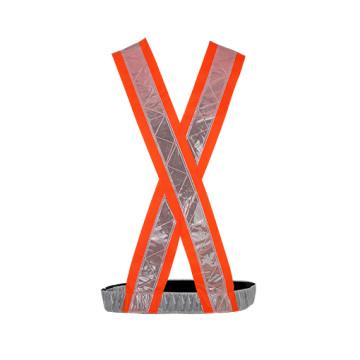 Colete com alças de segurança reflexivas 100% poliéster com fita de PVC
