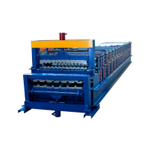 canton fair xinnuo 800+750 double layer slat wall making machine botou hebei