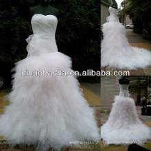 NW-476 Robe de mariée à motif réel Tulle Skrt, la plus chaude et la plus récente 2014