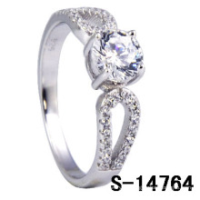 New Styles 925 Sterling Silver Micro Setting Ring (S-14764)