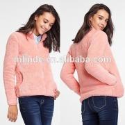wholesale winter autumn spring plua size fashion custom Springs Sherpa Lined Pull Full Zip coral fleece jacket blazer coat
