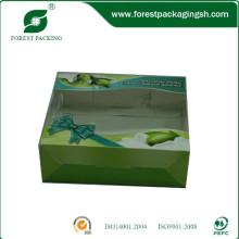 Экологичный Цвет бумажные коробки с окном PVC
