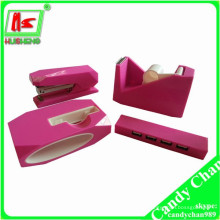 Pink pink Artigos de papelaria set pink scotch tape dispenser