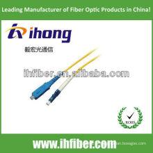 SC-LC monomode simplex fibre optique cordon de raccordement fabricant avec haute qualité