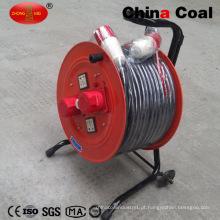 Carretel de cabo retrátil de extensão retrátil impermeável flexível