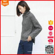Nueva moda cashmere puentes venta turtleneck cachemir suéter mujeres