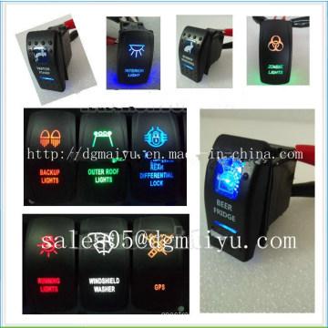Interruptor de control de interruptor especial del sensor de estacionamiento de Toyota Lexus Interruptor de eje de balancín de 12 voltios encendido / apagado Iluminado