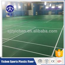 Muster-Sportbodenbelag PVCs Innen, Badmintongericht trägt Bodenbelag zur Schau