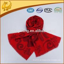 China Estilo clássico de cor vermelha Festiva 100% fábrica de lenço de seda China For Gift