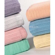 100 Baumwolle Airline Zelluläre Decken für den Sommer