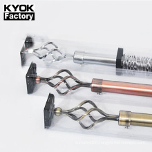 KYOK living room use gold curtain rod accessories extendable curtain rod wholesale D910