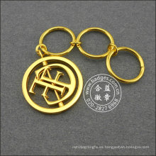 Llavero impreso oro hueco, regalo promocional (GZHY-KA-043)
