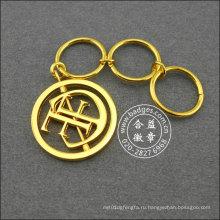 Полые золото напечатано кольцо для ключей, Поощрительный подарок (GZHY-ка-043)