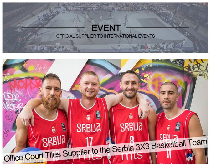 Official Court Tiles to The Serbia National Basketball Team