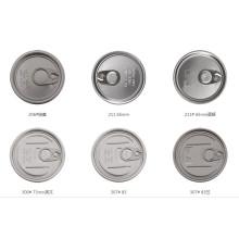 202 # 52mm Alimentos secos Latas y tapas de aluminio