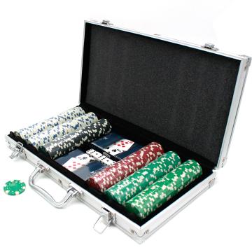 Conjuntos de fichas de pôquer de 11,5G em caixa de alumínio