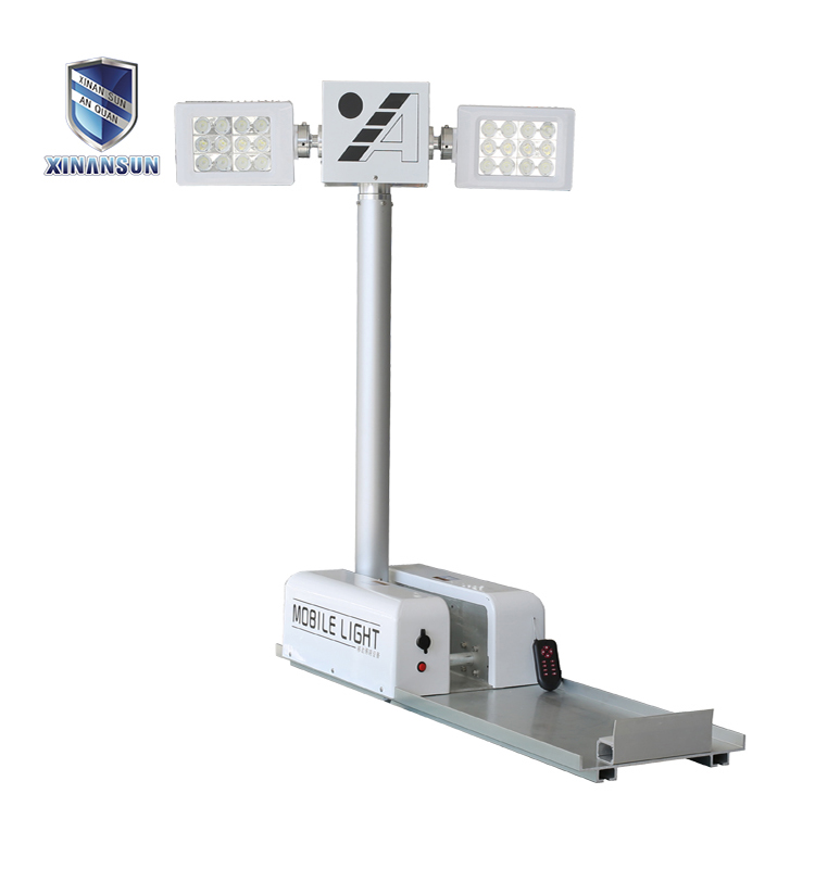 White Telescopic Light Tower