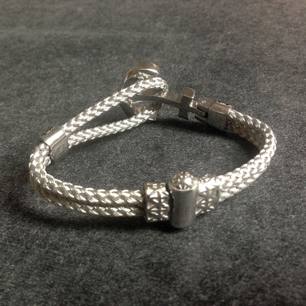 Steel Wire Cord Anchor Zircon Bracelet