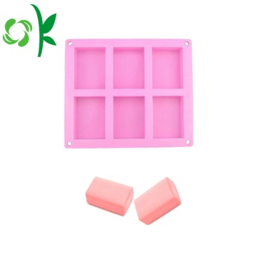 Square Silicone Candle Handgjord Flexibel Tvål Mold Wholesale