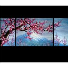 Decoração para casa Arte da parede Pintura a óleo da flor (FL3-014)