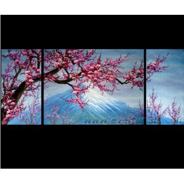 Peinture à l'huile de fleur à la décoration murale (FL3-014)