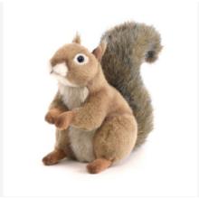Jouets en peluche écureuil mignon