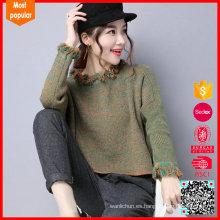 Suéter de punto de gran tamaño de impresión de moda