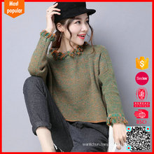 Fashion print oversized knitted jumper sweater