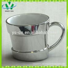 2014 heißer Verkauf Luxuxqualitätssilber keramischer Vase