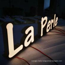 Customized brushed Lighting  Led 3d Front Sign Letter Logo 3D Metal Letter Resin Letter