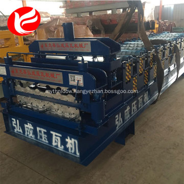 Double layer zinc roofing sheets glazed roof tile roll forming machine