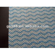 Tissu non-tissé de viscose + polyester Mesh Spunlace, types de tissu non-tissé