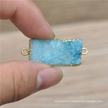 Fashion natural stone Druzy Stones Pendant Wholesale Natural Drusy Jewelry