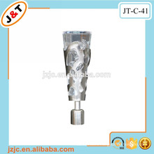 elegant telescopic curved shower curtain poles with crystal curtain finial
