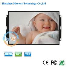 16: 9 resolución 1600X900 marco abierto monitor LCD de 17.3 pulgadas con botones de menú