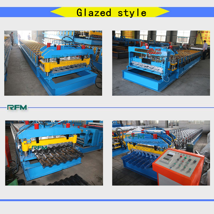 FX750 Glazed steel roof tile machine