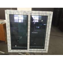 Nouvelle fenêtre coulissante en vinyle UPVC avec verre réfléchi
