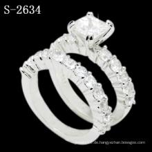 New Fashion White Zirkonia 925 Silber Ehering (S-2634. JPG)