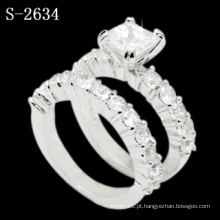 Nova Moda Branco Zircônia 925 Anel De Casamento De Prata (S-2634. JPG)