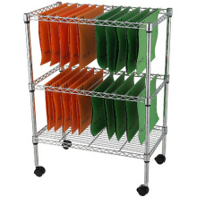 Adjustable Modern Metal File Cart (LD603576A3CW)