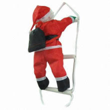 Christmas Ornament Ladder, Made of PP Cotton and PVC, Christmas Decoration Supplies