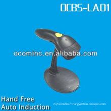 OCBS-LA01-RB RS232 Noir Auto-Induction laser Laser Barcode Scanner