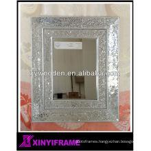 New Design Modern Wooden Mosaic Framed Wall Mirror
