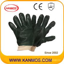 Schwarze Anti-Rutsch-Arbeitsschutz-PVC-Tauchhandschuhe (51203SP)