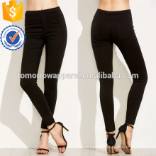 Elástico de cintura elástica preta Leggings OEM / ODM fabricação atacado moda feminina vestuário (TA7032L)