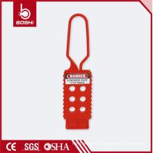 Hochwertige PP Nicht leitfähige Kunststoff Sicherheit Nylon Lockout Hasp BD-K42, boshi Marke mit CE ROHS OSHA Zertifizierung